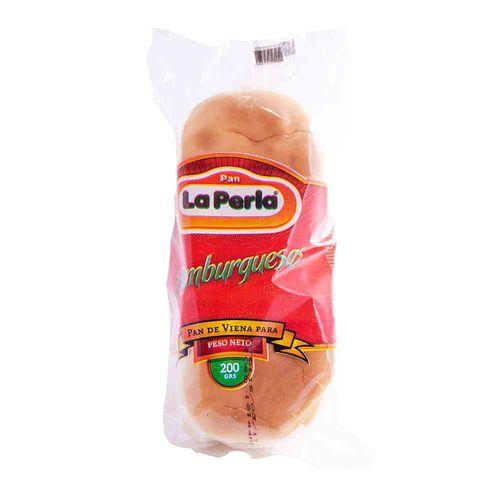 Pan Para Hamburguesas La Perla 4 U 230 Gr - 1 Paquete