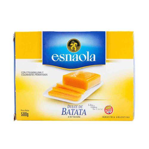 Dulce De Batata Esnaola Con Vainilla 500 Gr