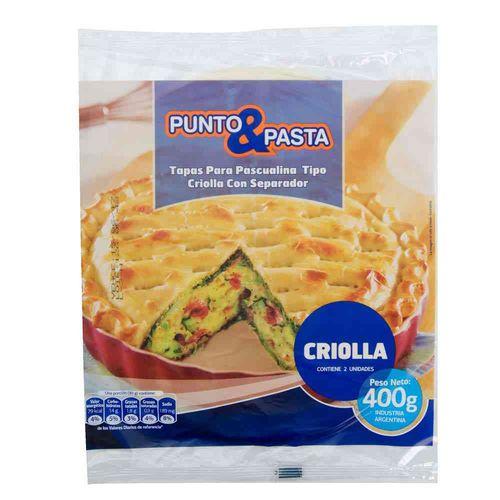 Tapas Pascualinas Punto&pasta Criollas 400 Gr