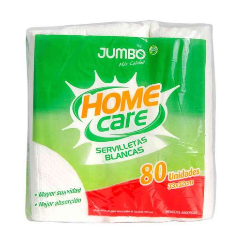 Servilletas Descartables Jumbo Home Care 80 U