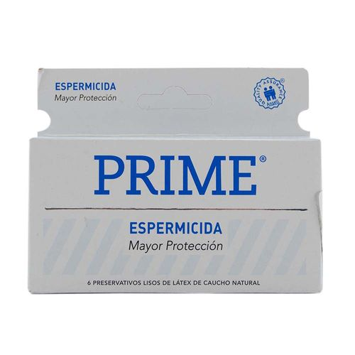 Preservativos Prime Espermicida 6 U