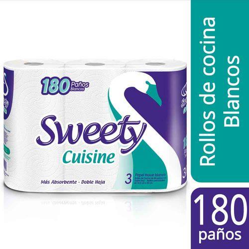 Rollo De Cocina Sweety Cuisine Tissue 3 U X 180 Paños