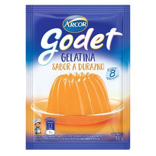 Gelatina Godet Durazno 30 Gr