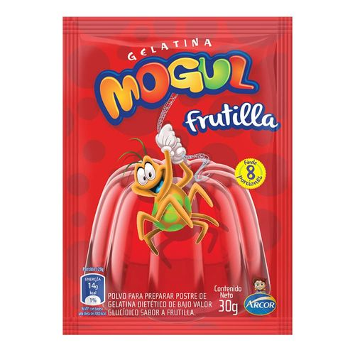 Gelatina Mogul Frutilla 30 Gr