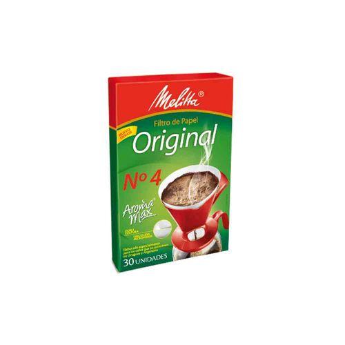 Filtros De Papel Para Café Nº4 Melita 30 U