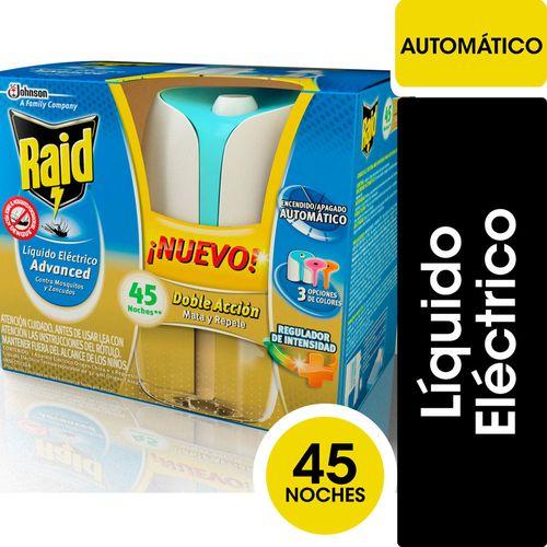 Líquido Eléctrico Raid Advanced Aparato Eléctrico  45 Noches