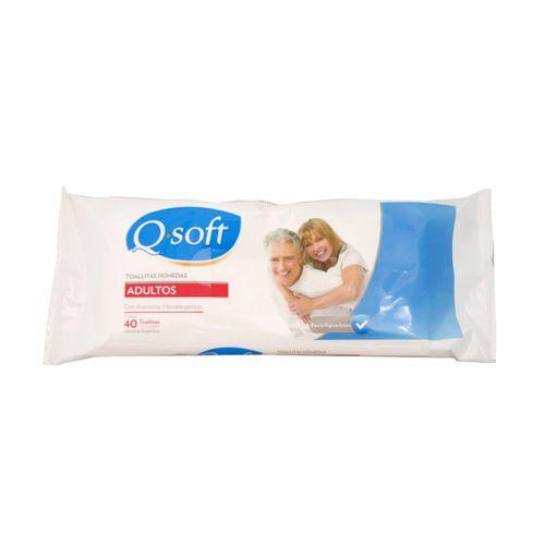 Toallas Húmedas Adultos Qsoft 40 U