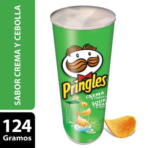 Papas Fritas Pringles Crema Y Cebolla 124 Gr