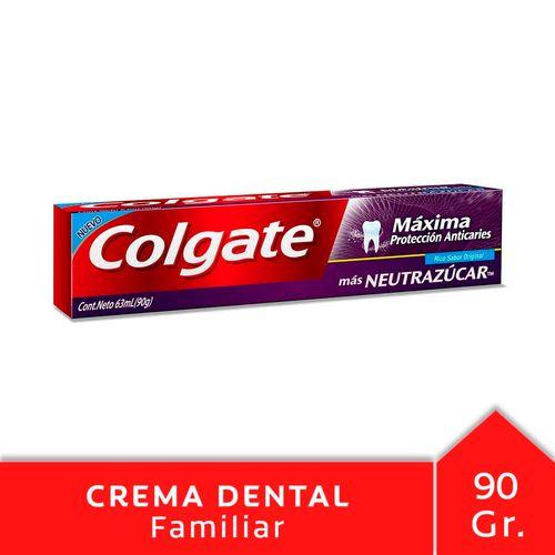 Crema Dental Colgate Máxima Protección Anticaries Neutrazúcar 90 Gr