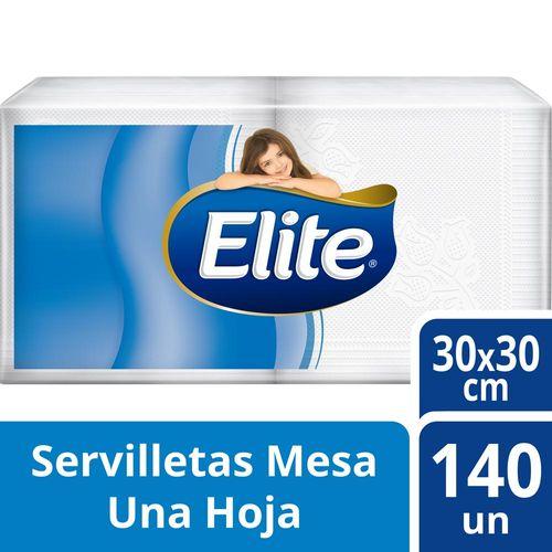 Servilletas Descartables Elite Blancas 140 U