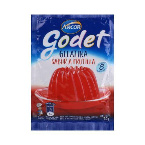 Gelatina Godet Frutilla 30 Gr