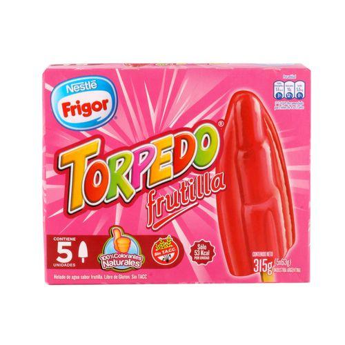 Helado Torpedo Frutilla 5 U 315 Gr