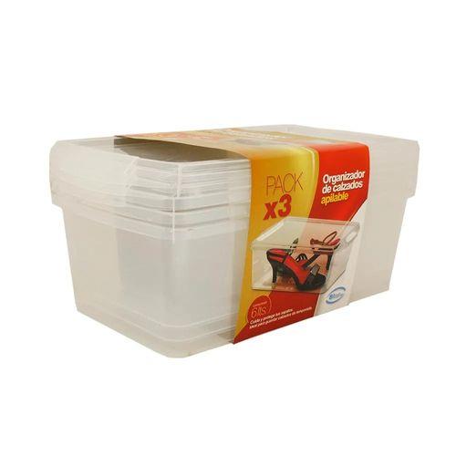 Organizador De Calzado Pack X 3 - Plastico