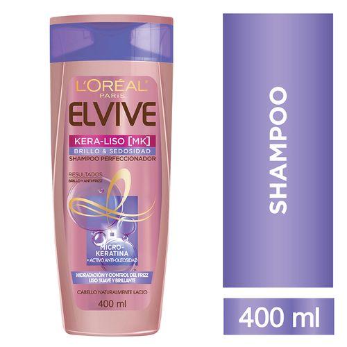 Shampoo Elvive Kera Liso Brillo 400ml