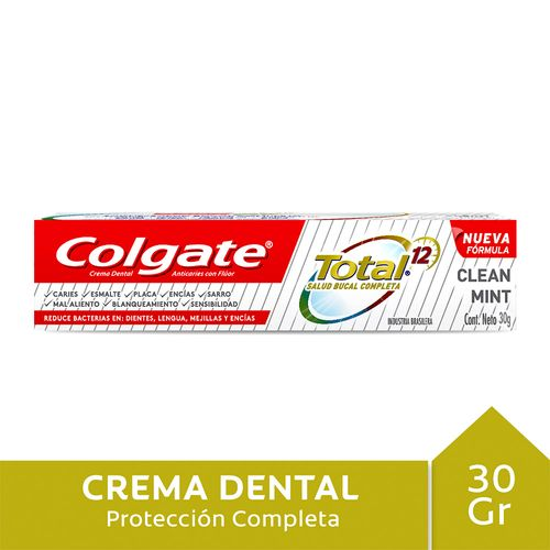 Crema Dental Colgate Total 12 Clean Mint 30 Gr