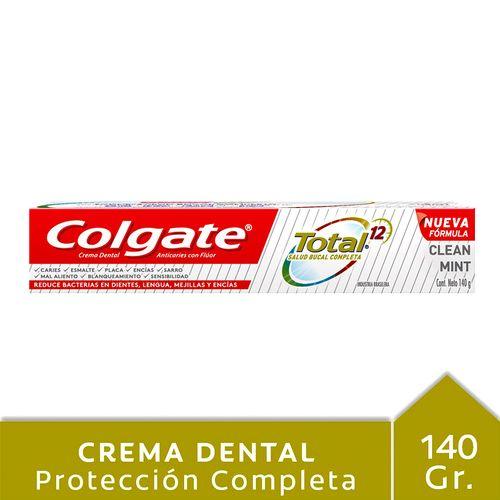 Crema Dental Colgate Total 12 Clean Mint 140 Gr