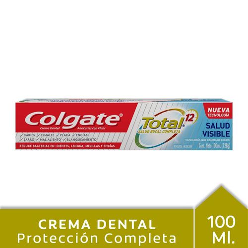 Crema Dental Colgate Total 12 Salud Visible 128g