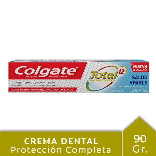 Crema Dental Colgate Total 12 Salud Visible 90 Gr