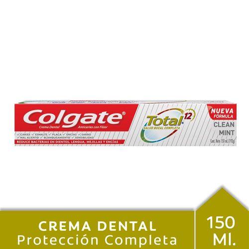 Crema Dental Colgate Total 12 Professional Clean Mint 150 Ml