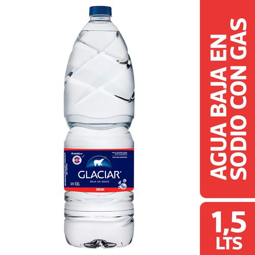 Agua Baja En Sodio Glaciar Con Gas 1.5 L