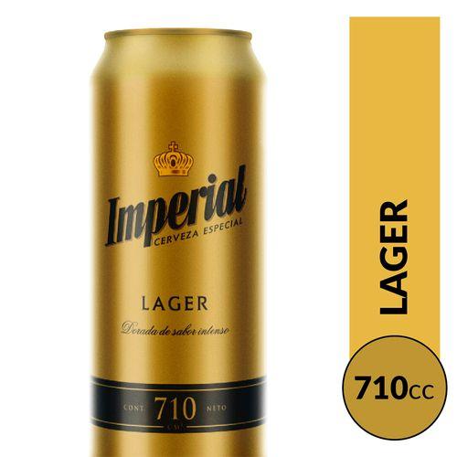 Cerveza Imperial Rubia 710cc Lata