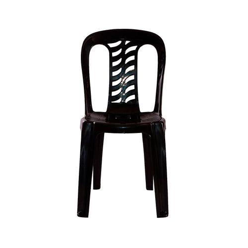 Silla Plastica Negra Bistro S/apoya Brazos Garden 1 U