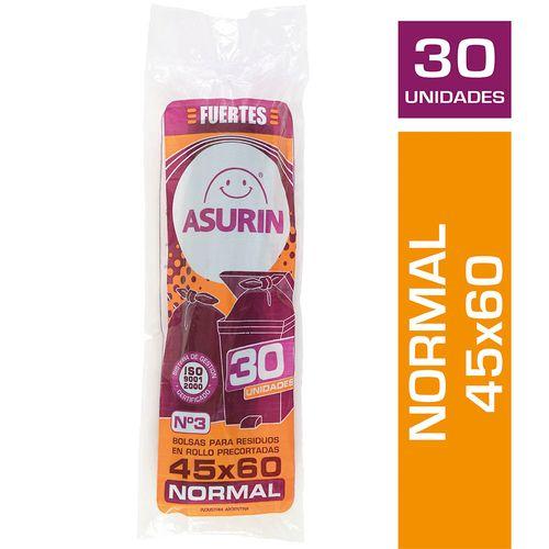 Bolsa De Residuos Asurin 45 X 60 Cm Rollito - 30 U