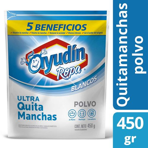 Quitamanchas Ayudin Ropa En Polvo Blancos 450 Gr