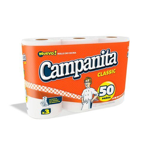 Rollo De Cocina Campanita Classic 3 U
