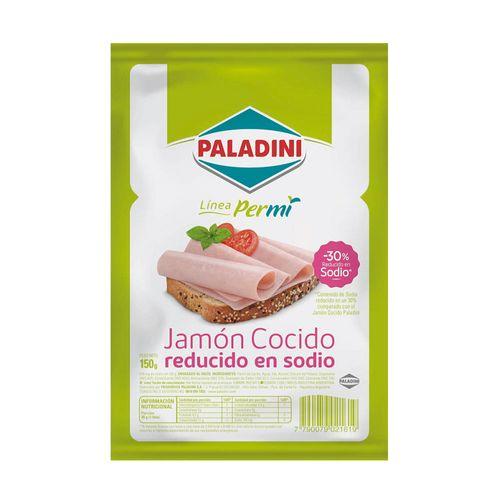 Jamón Cocido Paladini Reducido En Sodio X 150g
