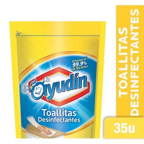 Toallitas Desinfectantes Ayudín Limón Doy Pack 35 U