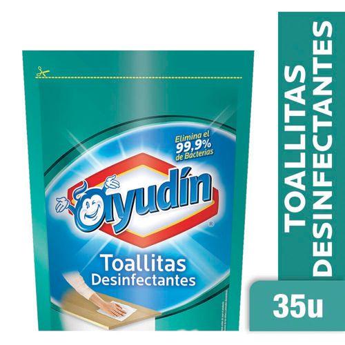 Toallitas Desinfectantes Ayudín 35 U