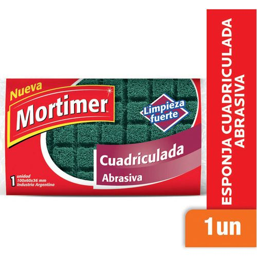Esponja Cuadriculada Mortimer Abrasiva 1 U
