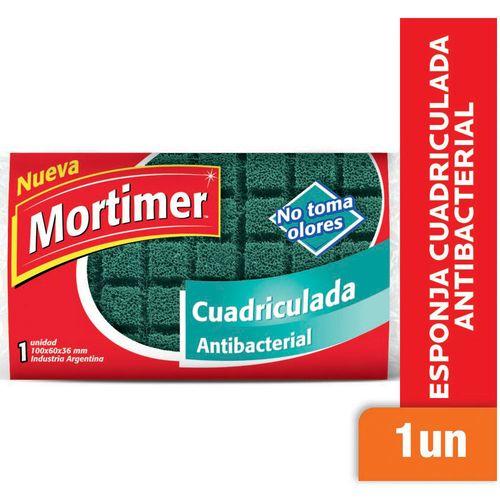 Esponja Cuadriculada Mortimer Antibacterial 1 U.