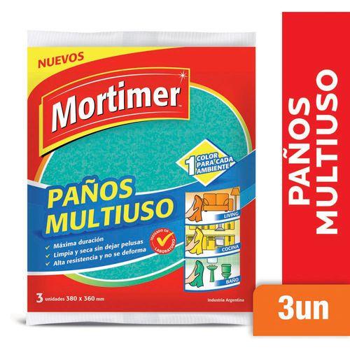Paño Multiuso Mortimer Multicolor 3 U