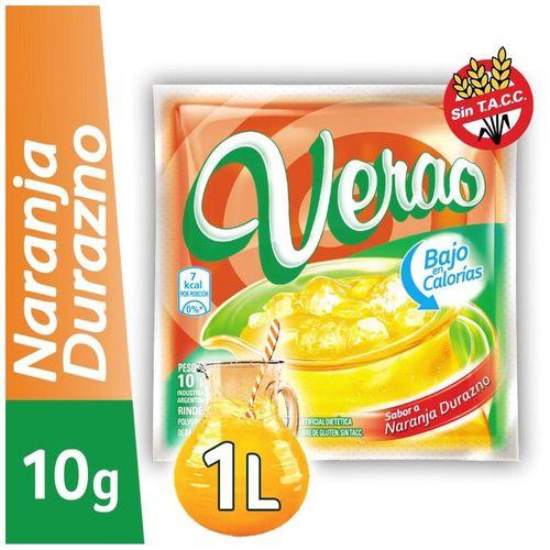 Jugo En Polvo Verao Naranja - Durazno 10 Gr