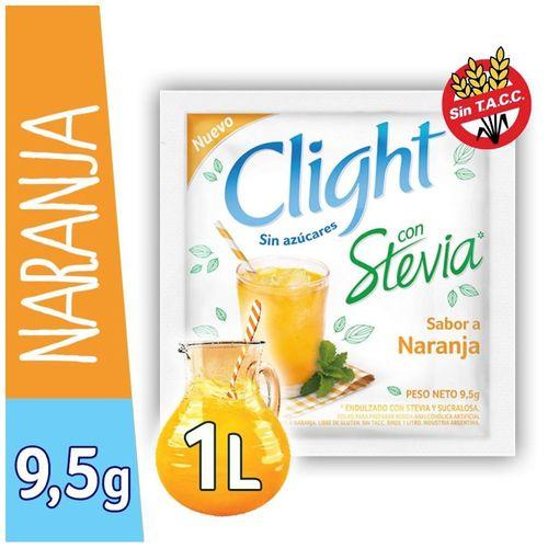 Jugo En Polvo Clight Pomelo Naranja Con Stevia 9.5 Gr