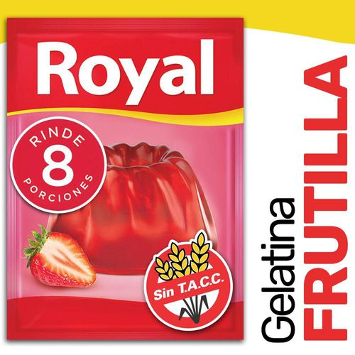 Gelatina Royal Frutilla 40 Gr