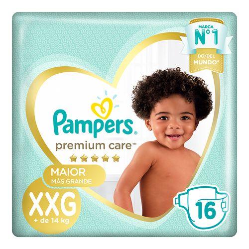 Pañales Pampers Premium Care Xxg 16 U