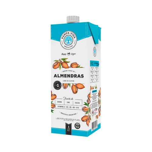 Bebida A Base De Almendras Pampa Vida Original 1 L