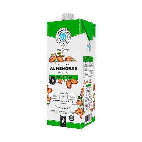 Bebida A Base De Almendras Pampa Vida Sin Azucar 1 L.