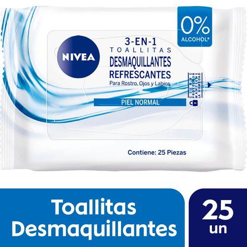 Toallitas Desmaquillantes Nivea Visage Refrescante 25 U