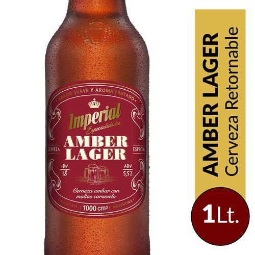 Cerveza Imperial Amber Lager Retornable 1lt