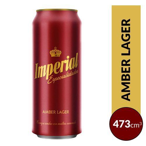 Cerveza Imperial Amber Lager 473cc Lata