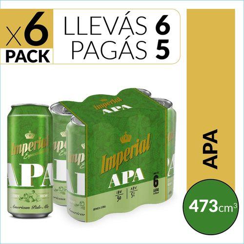 Cerveza Imperial Apa 473cc Six Pack