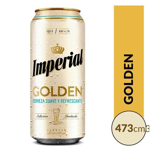 Cerveza Imperial Golden 473cc Lata