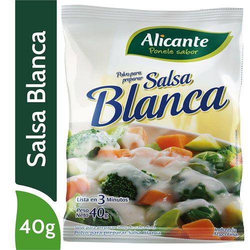 Salsa Blanca Alicante En Polvo 40 Gr