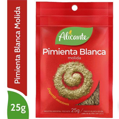 Pimienta Blanca Alicante Molida 25 Gr