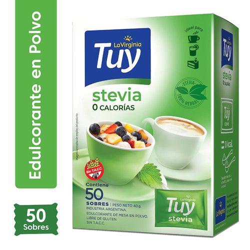 Edulcorante Tuy Stevia Sobres 50 Gr