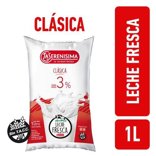 Leche Entera Clasica La Serenisima Sachet 1 L